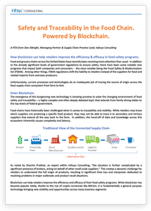 Safety and Traceability in the Food Chain. Powered by Blockchain.